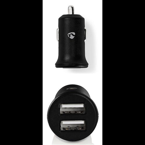 Autós töltő szivargyújtó aljzathoz, 2 USB-A kimenet 4,8A