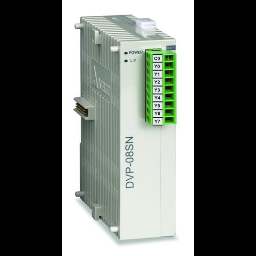 DELTA DVP08SN11R PLC I/O bővítő modul 8 db relé kimenettel