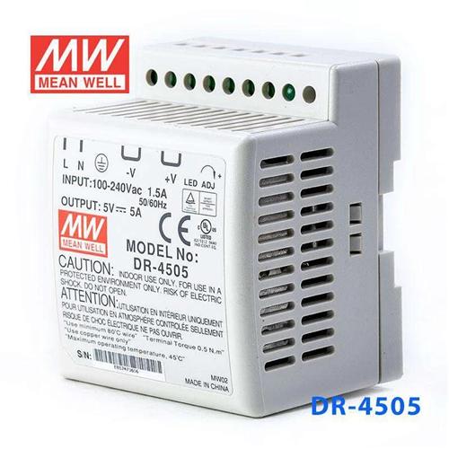 Mean Well DR-4505 5V 5A tápegység