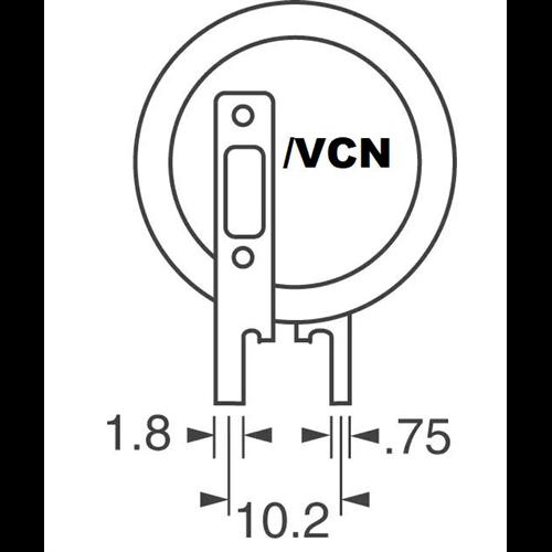 VL-2020/VCN 3V lítium akkumulátor forrfüles