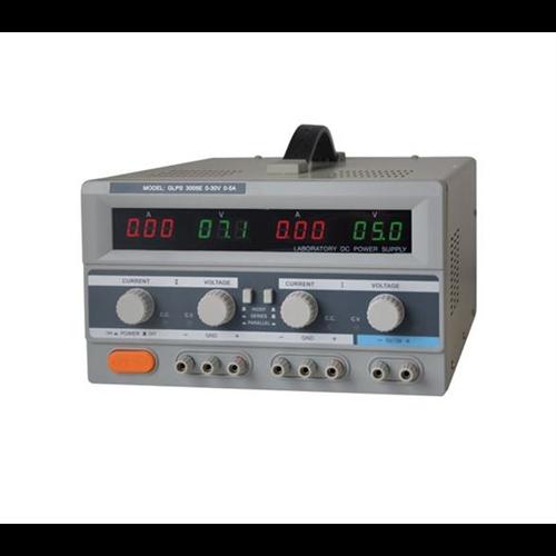 GETI labor tápegység GLPS3005E 2x0-30VDC 2x0-5A +5V/3A