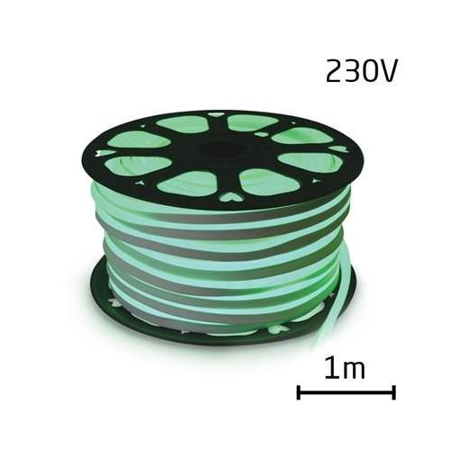 LEDSZALAG hajlékony neon 230V 120LED / m 12W / m zöld (1m)