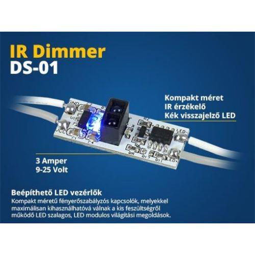 Ledszalag IR vezérlő DS01 (kézmozdulat vezérlés)