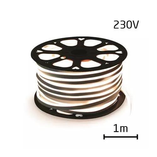 LEDSZALAG hajlékony neon 230V 120LED / m 12W / m természetes fehér (1m)