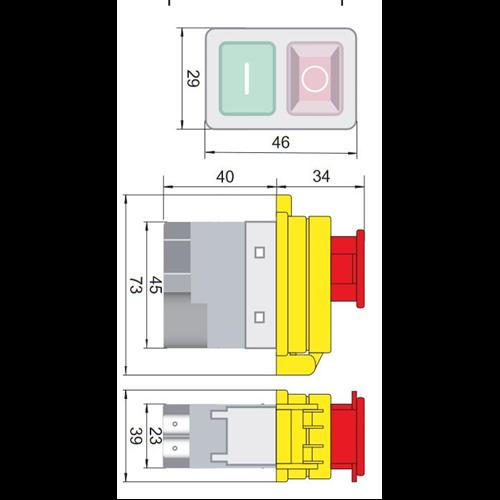 TRACON SSTM-01 Relés biztonsági kapcsoló