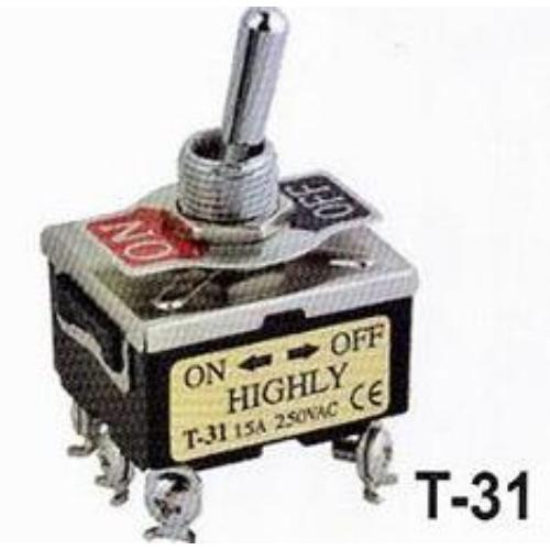 Fémkaros kapcsoló három áramkörös, két állású ON/OFF