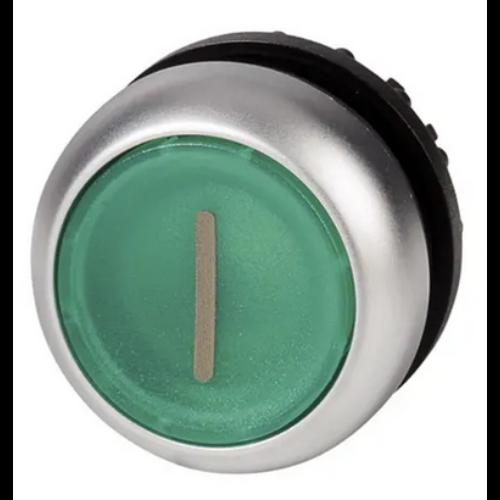 EATON M22-DL-G-X1 zöld átvilágítható nyomógomb I piktogrammal