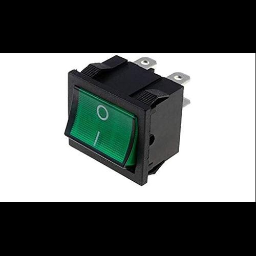 Billenő kapcsoló 20x25 két áramkörös, két állású 6A világító 230VAC zöld