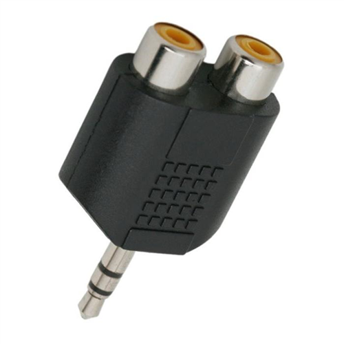JACK 3,5 ST.Dugó - 2xRCA Aljzat Adapter