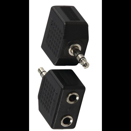 JACK 3,5 ST.DUGó-2x3.5 ST Aljzat adapter
