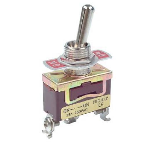 Fémkaros kapcsoló egy áramkörös, két állású ON/ON