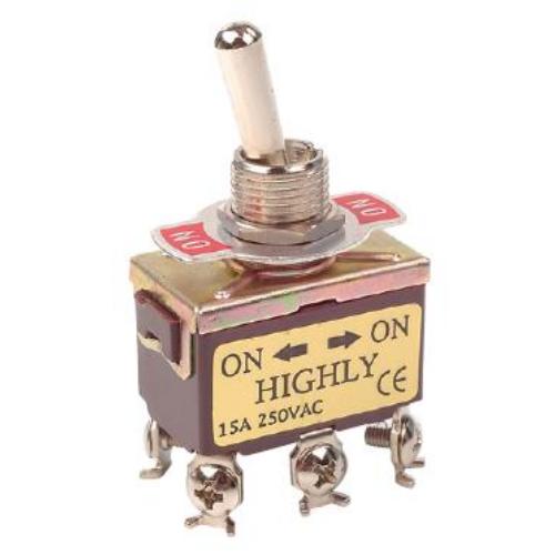 Fémkaros kapcsoló két áramkörös, két állású ON/ON