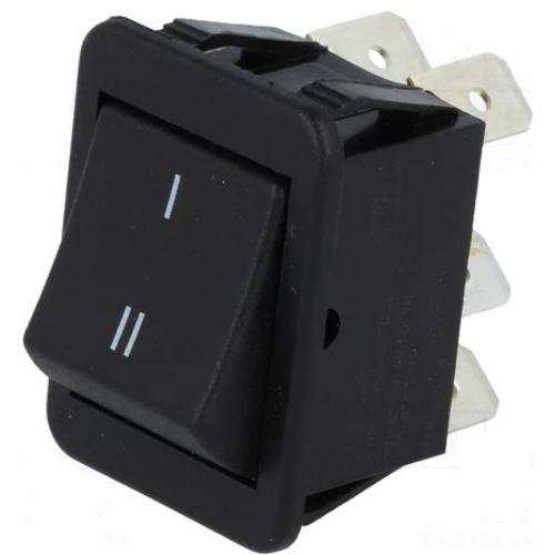 Billenő kapcsoló 30x25 két áramkörös, két állású ON/ON váltó