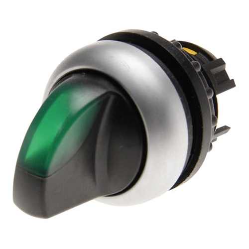 EATON M22-WLK-G 2 állású visszaállós zöld átvilágítható választókapcsoló fej