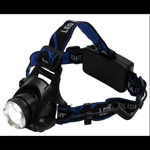 Fejlámpa LED-es tölthető 2x18650 akkuval 1000lm