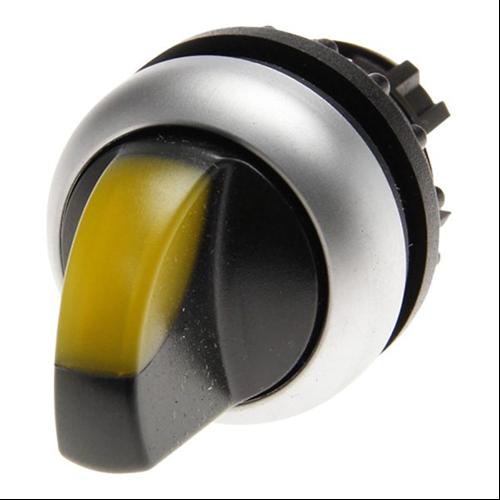 EATON M22-WLK-Y 2 állású visszaállós sárga átvilágítható választókapcsoló fej