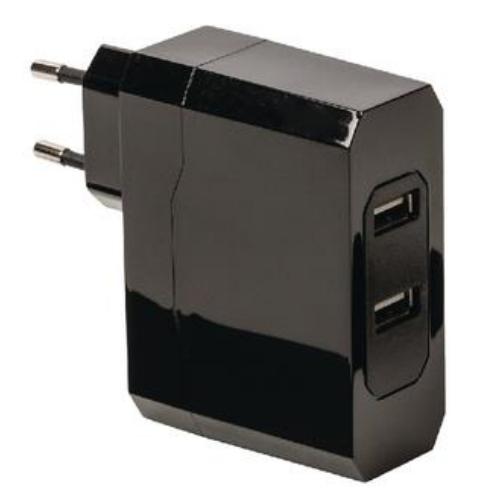 TÁPEGYSÉG 5VDC 2x2,4A USB Hálózati