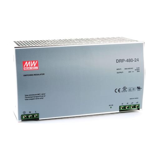 Mean Well DRP-480-24 24v 20A tápegység